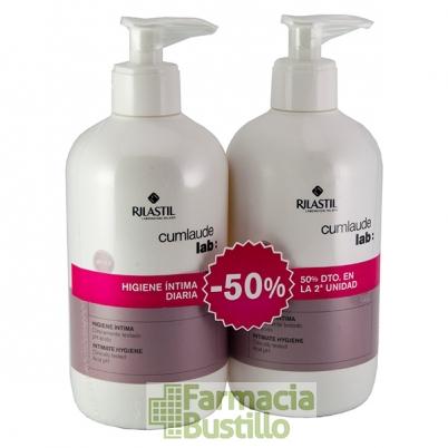 Cum Laude DUPLO Higiene Intima Diaria Gel 500ml + 500ml 50% 2ª Unidad