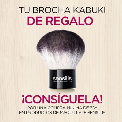 REGALO BROCHA KABUKI SENSILIS MAQUILLAJE