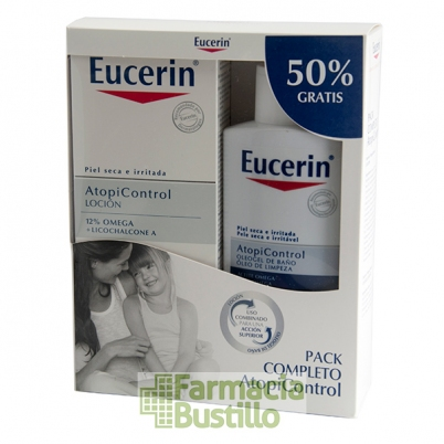 EUCERIN AtopiControl PACK Loción 12% Omega piel seca 400ml + Oleogel 400ml 50% Gratis