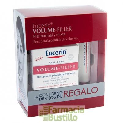 EUCERIN Volume Filler Crema de Dia Pieles Norm y Mixtas 50ml + REGALO Contorno de Ojos