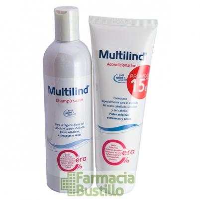 MULTILIND PACK Acondicionador  250ml + Champú Suave Uso Diario 400ml