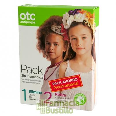 OTC  Antipiojos Pack Sin Insecticida Elimina Loción 125ml + Retira 125ml