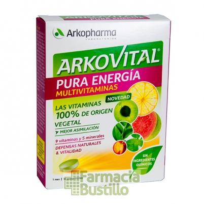 Arkovital PURA ENERGIA Multivitaminico de origen natural 30 COMP