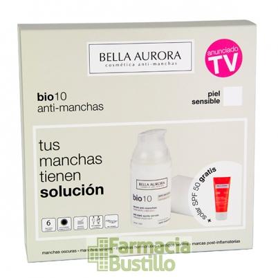 Pack Bella Aurora Bio10 Serum anti-manchas pieles sensibles 30ml + REGALO Fluido Solar 50+ CN 175766