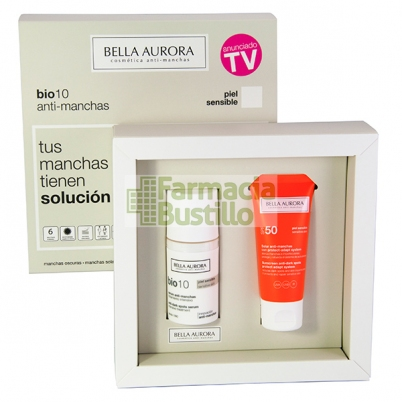 Pack Bella Aurora Bio10 Serum anti-manchas pieles sensibles 30ml + REGALO Fluido Solar 50+ CN 175766