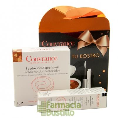 AVENE Pack Navidad COUVRANCE Polvos Mosaico Bronceados + Mascara Alta Tolerancia formato viaje REGALO