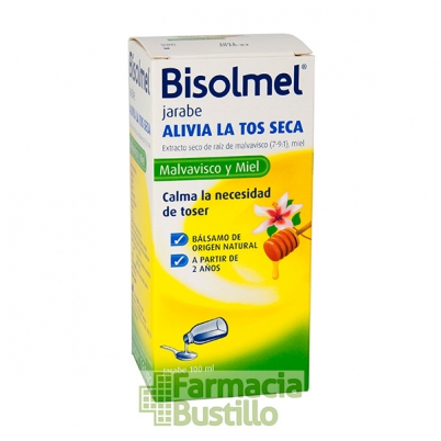 BISOLMEL Bisolvon Jarabe Natural para la tos Seca 100ml