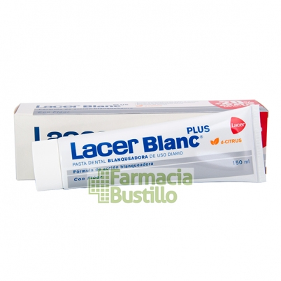 LacerBlanc Plus Pasta Dentífrica Citrus 125 ml + 25ml REGALO  20% Gratis