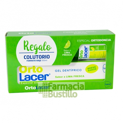 OrtoLacer Gel Dentífrico Lima Fresca 75 ml + Regalo Colutorio Ortolacer 100ml