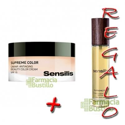Sensilis SUPREME COLOR Crema regeneradora de caviar + Supreme Aceite DETOX REGALO