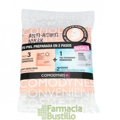COMODYNES Anti-aging Mascarilla facial Antiedad Intensiva (pack 5 monodosis + 1 Essence hyalurónico)