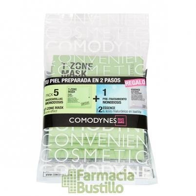 COMODYNES T-Zone Mascarilla facial purificante (pack 5 monodosis + 1 Essence hyalurónico)