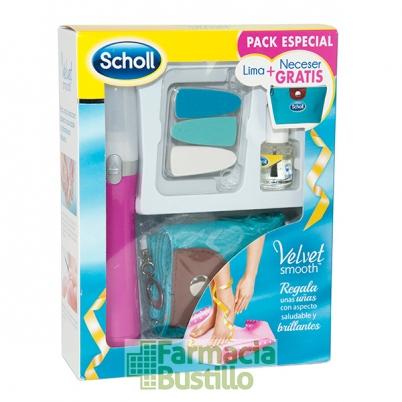 Lima de Uñas Rosa Electrónica Velvet Smooth Dr Scholl  + REGALO Neceser CN 178577