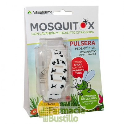 Mosquitox Arko Pulsera Repelente de Antimosquitos Recargable Niños