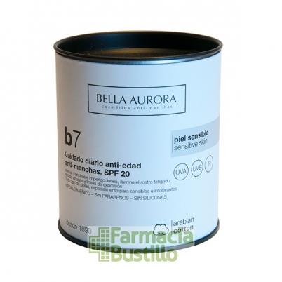 Bella Aurora B7 Crema facial anti-manchas pieles sensibles SPF20