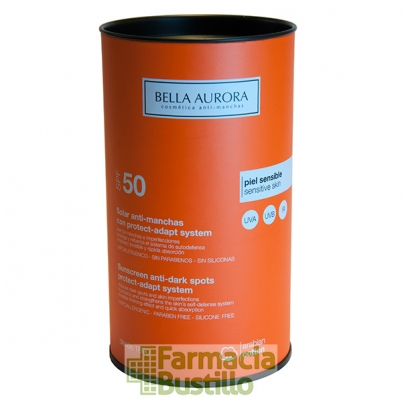 Bella Aurora Solar Fluido Anti-manchas SPF50 Piel sensible 50ml
