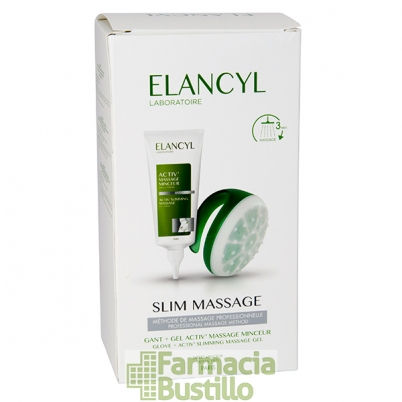 Elancyl ACTIV Slim Gel Masaje Anticelulítico, 200ml + Guante para ducha