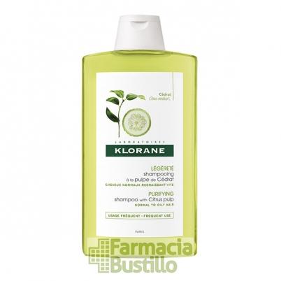 Klorane Champú vitaminado a la pulpa de Cidra 400ml