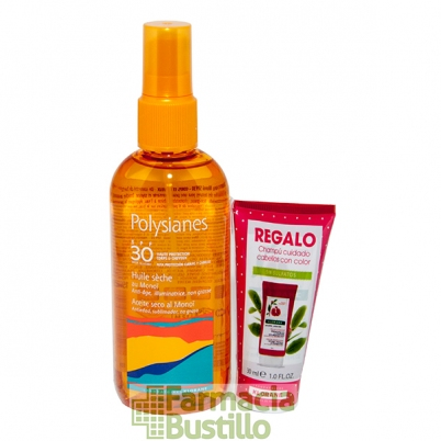 POLYSIANES Aceite Seco al Monoi SPF 30 Spray 125ml + REGALO Champú Granada 30ml