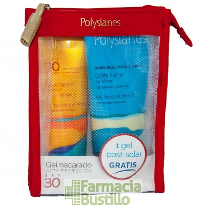 POLYSIANES PACK Gel Nacarado al Monoi SPF 30 125ml + REGALO Gel Post Solar