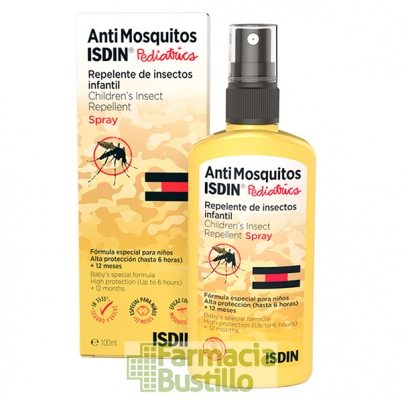 ISDIN Antimosquitos Pediatrico Repelente de Mosquitos Spray +12meses 100ml