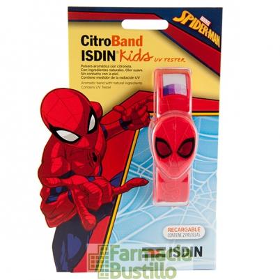 ISDIN Citroband Kids Pulsera para mosquitos con Citronela Spider-Man Niños