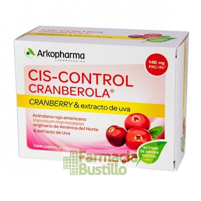 Arkocápsulas Cis-Control CRANBEROLA y Extracto de Uva 120 Cápsulas