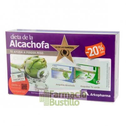 Arko Dieta Alcachofa 10 amp + Te Verde 10 amp + Recetas y Ejercicios Informativo