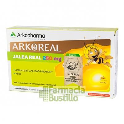 Arko Real Jalea Real 250mg 20 ampollas Sabor naranja y miel