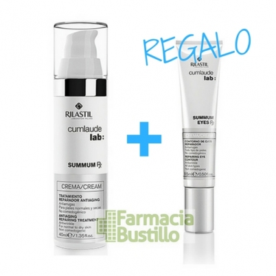 SUMMUN Crema Facial Cumlaude Lab Reparador antienvejecimiento 40ml + REGALO Summun Contorno de Ojos 15ml