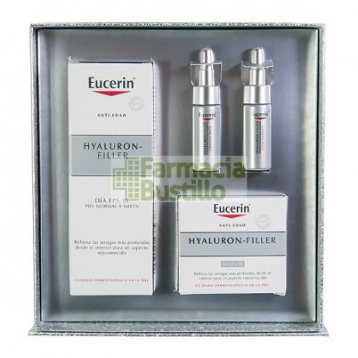 EUCERIN Pack Hyaluron Filler Día Piel Normal/Mixta 50ml + Crema Noche 50ml + 2 Ampollas Concentrado