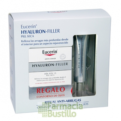 EUCERIN Hyaluron Filler Antiedad Día Piel seca 50ml + REGALO Contorno de Ojos