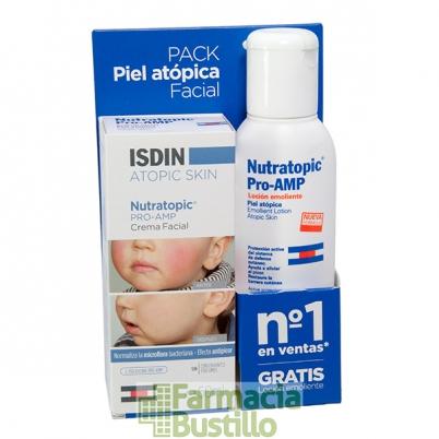NUTRATOPIC Isdin PRO-AMP Crema facial antipicor 50ml + REGALO Nutratopic Pro-Amp Loción Emoliente 10ml