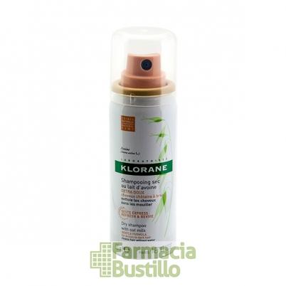 Klorane Champú seco MINI Color Natural extra-suave a la leche de Avena 50ml
