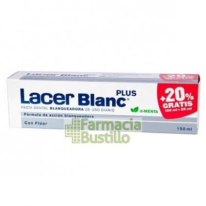 LacerBlanc Plus Pasta Dentífrica Menta + 20% GRATIS 125 ml + 25ml