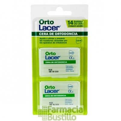 Orto Lacer Cera de Ortodoncia 14  Barritas Formato Ahorro