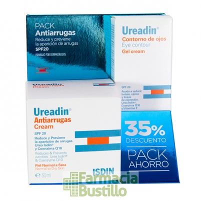 UREADIN Pack 35% Dto Crema Facial Antiarrugas SPF20 50ml + Contorno Ojos SPF20 15ml