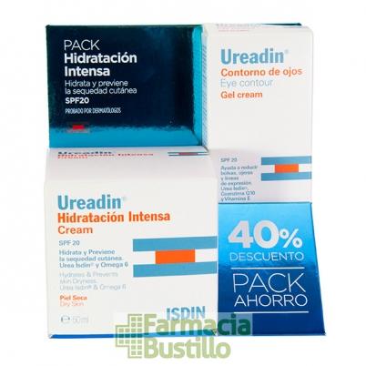 UREADIN Pack 40% Dto Crema Hidratación Intensa Piel Seca SPF20  50ml + Contorno de Ojos SPF20 15ml