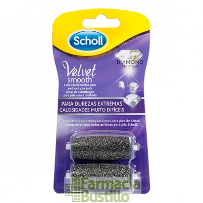 Recambios Lima Electrónica Velvet Smooth Diamond Crystals Dr Scholl Durezas Extremas 2 Unid
