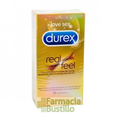 Durex Preservativos Real Feel Sensitivo Sin Latex 12 Ud