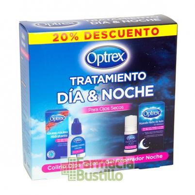 Optrex Tratamiento Día y Noche para Ojos Secos Colirio + Gel Reparador de Noche