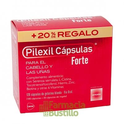 PILEXIL FORTE Anticaida 100 Capsulas + 20 Caps REGALO
