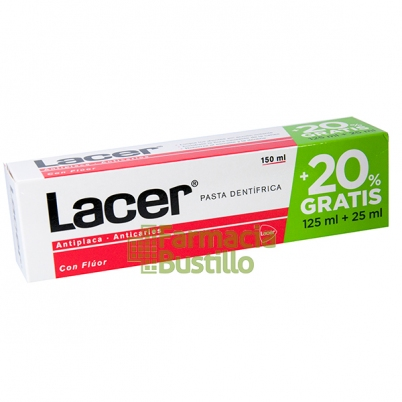 LACER Pasta Dental 125ml + 20% GRATIS 125ml+25ml