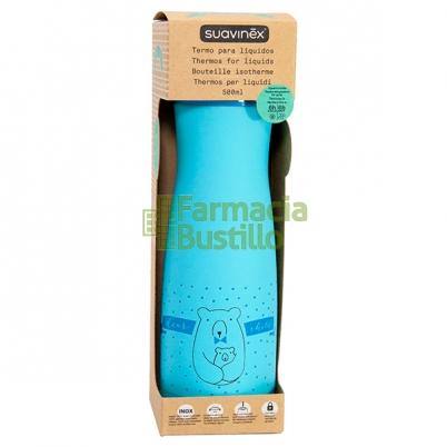 SUAVINEX Termo para líquidos 500ml acero inoxidable Color Azul