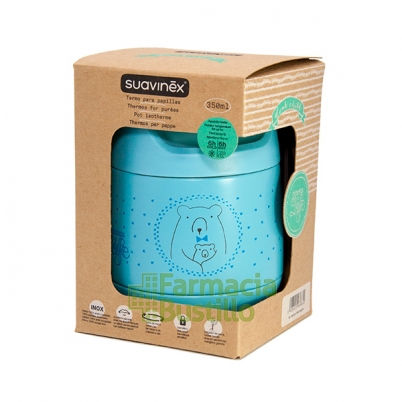 SUAVINEX Termo para papilla 350ml acero inoxidable Color Azul