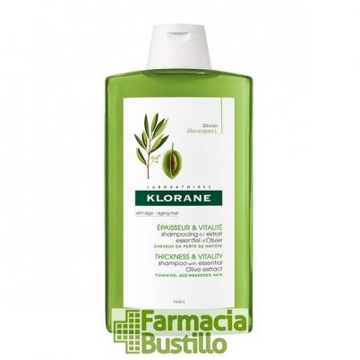 Klorane Champú al extracto esencial de Olivo Antiedad 400ml