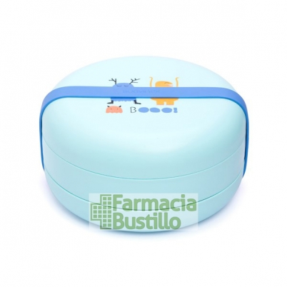 SUAVINEX Bentoo Set De Platos Combinables, 2 platos  Azul y Verde