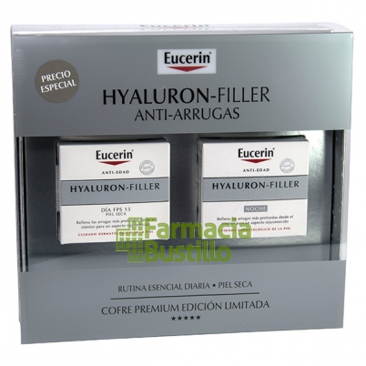 EUCERIN Pack Hyaluron Filler Día Piel Seca 50ml + Crema Noche 50ml