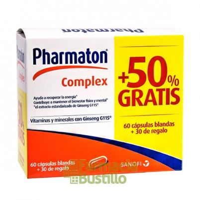 Pharmaton Pack Complex 60 Cápsulas + 50% gratis