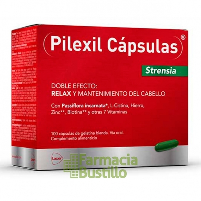 PILEXIL STRENSIA  Anticaida 100 Capsulas con Passiflora
